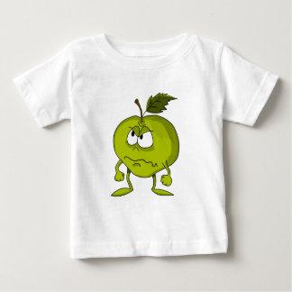 T-shirt Pour Bébé Personnage de dessin animé d'Apple avec un visage