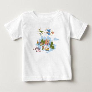 T-shirt Pour Bébé Peter Pan volant au-dessus de Neverland