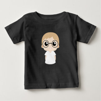 T-shirt Pour Bébé Petit garçon avec le vecteur en verre d'oeil