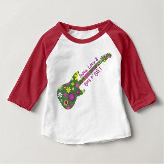 T-shirt Pour Bébé Petit pain de n d'amour et de roche de paix