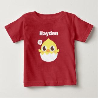 T-shirt Pour Bébé Petit poussin mignon hachant de la pièce en t de