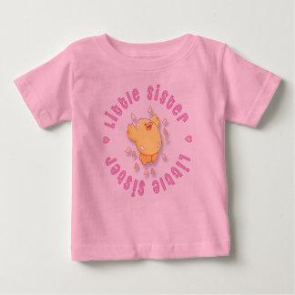T-shirt Pour Bébé Petite soeur de poussin heureux