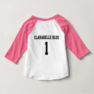T-shirt Pour Bébé Pièce en t bleue de base-ball de ClaraBelle - BÉBÉ