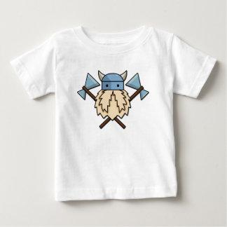 T-shirt Pour Bébé Pièce en t croisée de bébé de haches de Viking