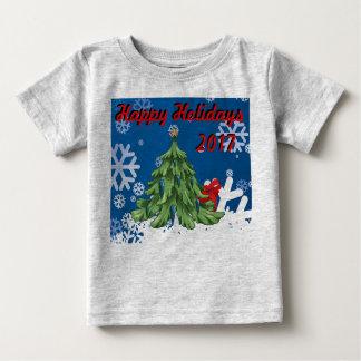 T-shirt Pour Bébé Pièce en t heureuse des vacances 2017