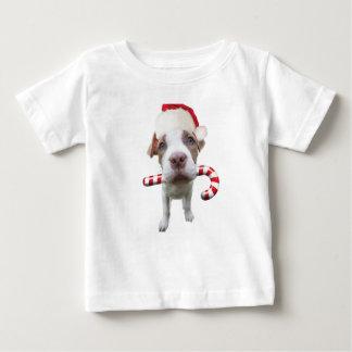 T-shirt Pour Bébé Pitbull de Noël - pitbull de père Noël - chien de