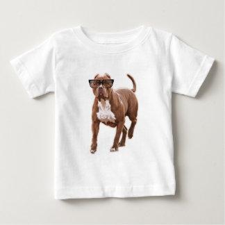 T-shirt Pour Bébé Pitbull drôle en verres