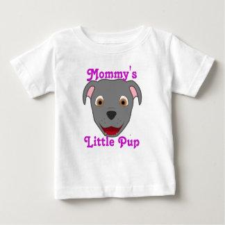 T-shirt Pour Bébé Pitbull gris font face