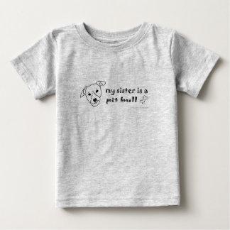 T-shirt Pour Bébé PitBullWhiteSister