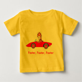 T-shirt Pour Bébé , Plus rapide, plus rapide, plus rapidement