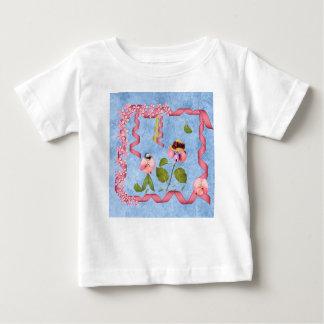 T-shirt Pour Bébé Pois doux humoristiques roses et personnes de