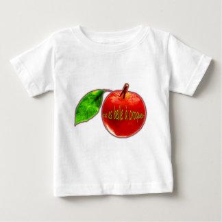 """T-shirt Pour Bébé Pomme rouge """"Belle à Croquer"""""""