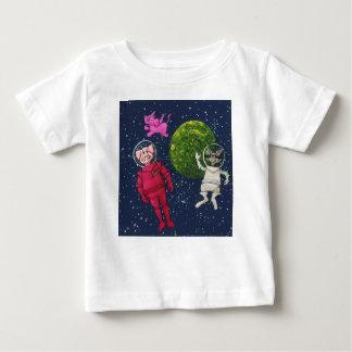 T-shirt Pour Bébé Porc, raton laveur et éléphant rose