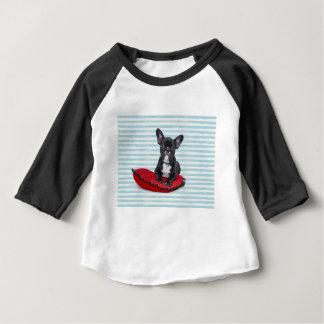 T-shirt Pour Bébé Portrait de chiot de bouledogue français