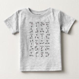 T-shirt Pour Bébé Poses de licorne de yoga