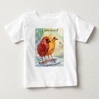 T-shirt Pour Bébé Poussins de flottement