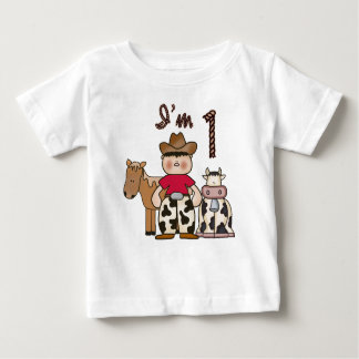 T-shirt Pour Bébé Premier anniversaire de cowboy