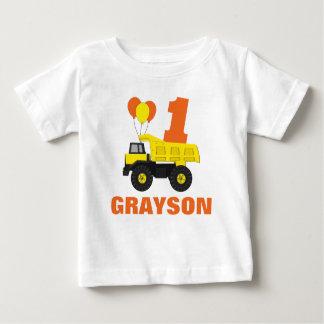 T-shirt Pour Bébé Premier équipement d'anniversaire de construction,