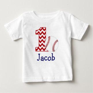 T-shirt Pour Bébé Première chemise d'anniversaire de base-ball