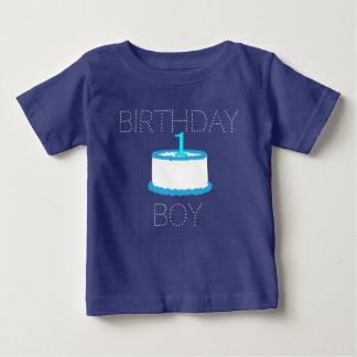 T-shirt Pour Bébé Première chemise d'anniversaire de bébé bleu