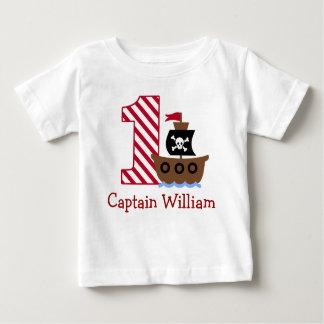 T-shirt Pour Bébé Première chemise d'anniversaire de pirate