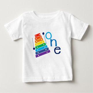 T-shirt Pour Bébé Première chemise d'anniversaire de xylophone