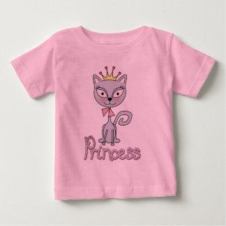 T-shirt Pour Bébé Princesse lunatique mignonne Kitty Cat
