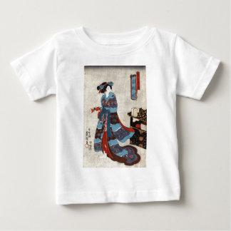 T-shirt Pour Bébé Princesse Minatsuru - Kunisada Utagawa - 1843