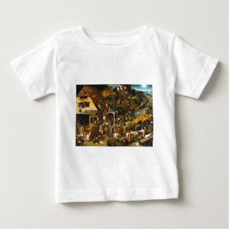 T-shirt Pour Bébé Proverbes de Bruegel Netherlandish