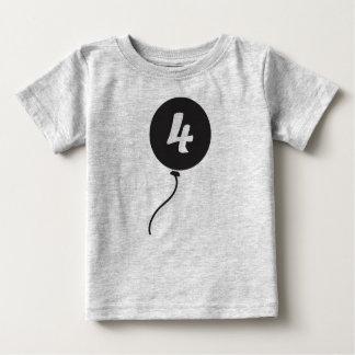 T-shirt Pour Bébé Quatrième chemise d'anniversaire