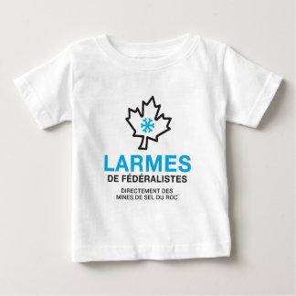 T-shirt Pour Bébé Québec larmes de féréralistes humour
