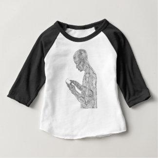 T-shirt Pour Bébé Raglan américain d'enfant en bas âge de prière
