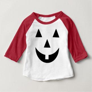 T-shirt Pour Bébé Raglan de citrouille de dent de lait