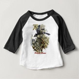 T-shirt Pour Bébé Rayon bleu à la maison heureux