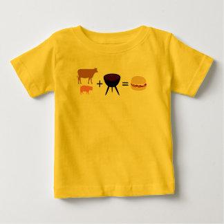 T-shirt Pour Bébé Recette d'hamburger de lard