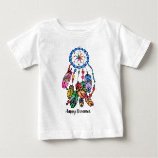 T-shirt Pour Bébé Receveur de rêve d'arc-en-ciel d'aquarelle et mots