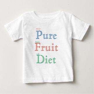 T-shirt Pour Bébé Régime pur de fruit (couleur)