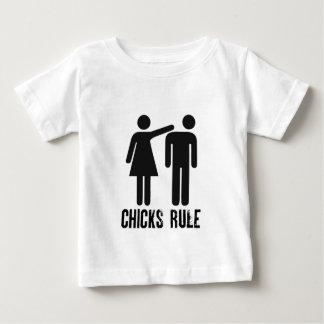 T-shirt Pour Bébé Règle de poussins