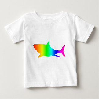T-shirt Pour Bébé Requin d'arc-en-ciel