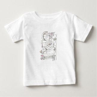 T-shirt Pour Bébé Résumé géométrique Frais-Lunatique