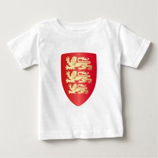 T-shirt Pour Bébé Richard le bouclier de coeur de lion en rouge+or
