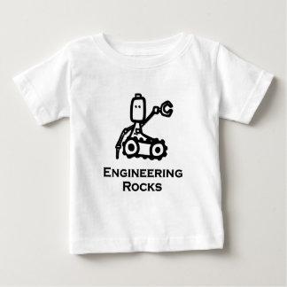 T-shirt Pour Bébé Roches d'ingénierie de Bot d'ingénieur