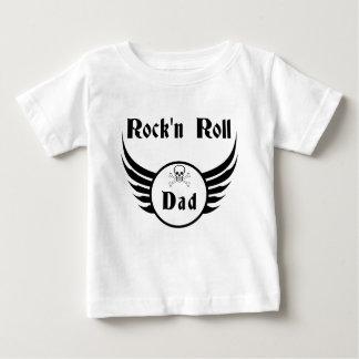 T-shirt Pour Bébé Rock and roll dad