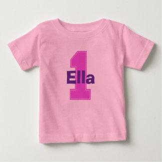 T-shirt Pour Bébé Rose de chemise d'anniversaire de point de Faux