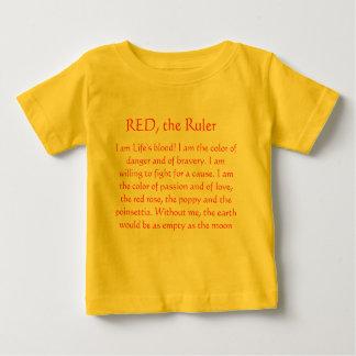 T-shirt Pour Bébé ROUGE la règle