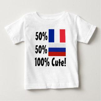 T-shirt Pour Bébé Russe du Français 50% de 50% 100% mignon