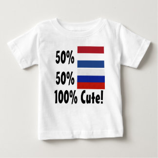 T-shirt Pour Bébé Russe du Néerlandais 50% de 50% 100% mignon