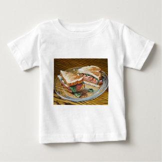 T-shirt Pour Bébé Sandwich à jambon, à salami et à fromage
