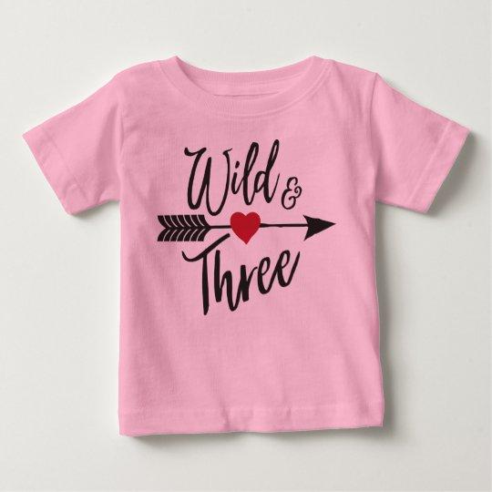 T-shirt Pour Bébé Sauvage et trois