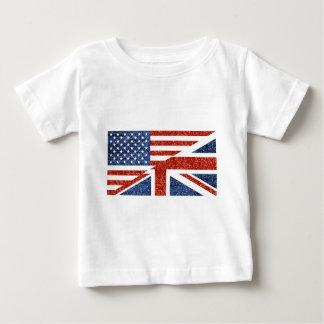 T-shirt Pour Bébé scintillement Etats-Unis britannique